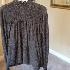 Anthropology NWT sage greenling sleeve top